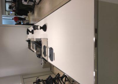 Polished cash desk top